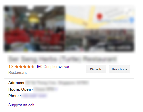 Viewing Google Reviews on the GMB Dashboard