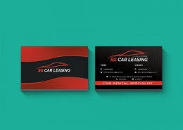 Business Card Design for SG Car Leasing