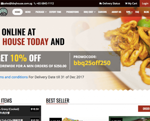 Ecommerce Website for BBQ House